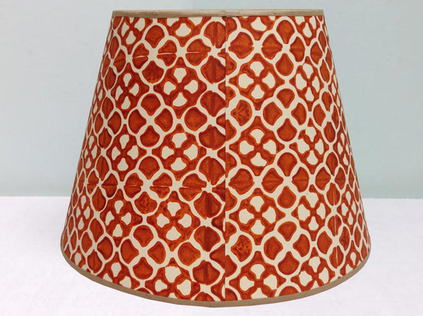 "12"" Burnt Orange, Sard Lampshade"