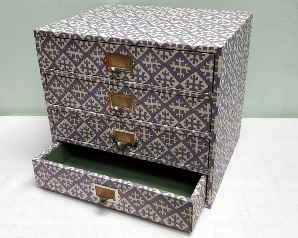 Angel's Grey Idea paper covered drawers
