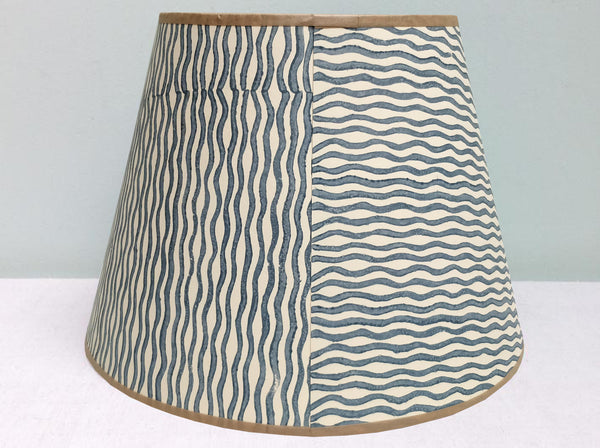 "12"" Grey wave lampshade"