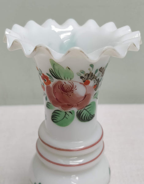 A Pair of Milk glass vases