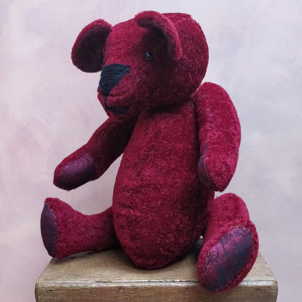 Large mohair velvet teddy