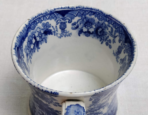 Blue & white transfer printed mug