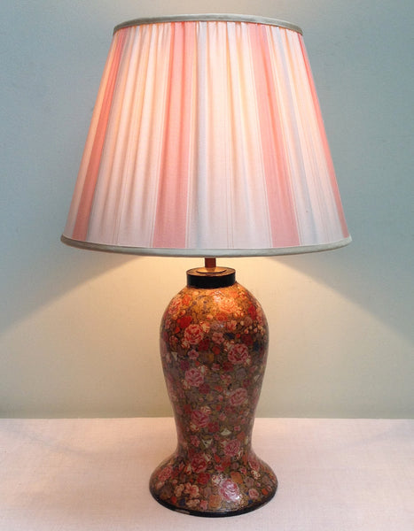 Antique floral Kashmiri lamp