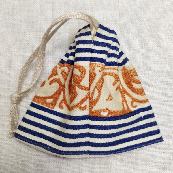 Small hand-block printed dorothy bag