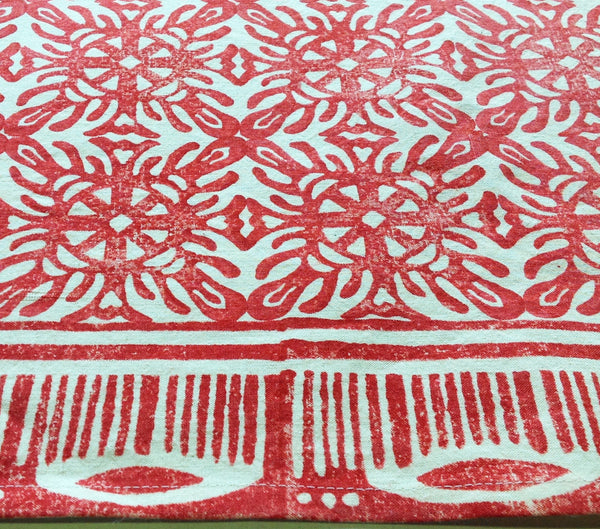 Purple Red Mix Polish Tile tablecloth