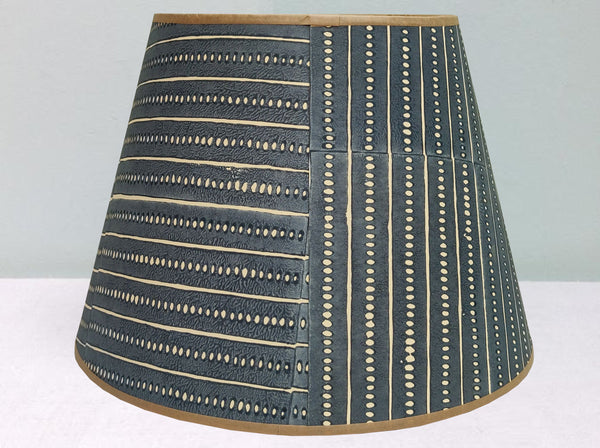 "12"" Stripe & Seed Grey 2 lampshade"
