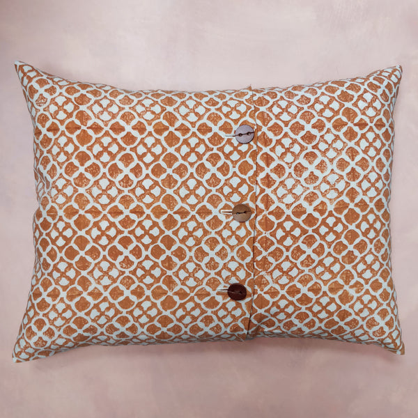 Burnt orange, sard cushion