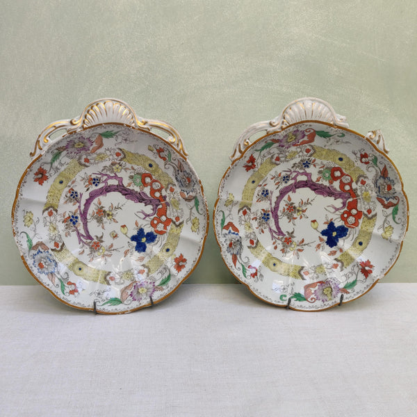 A Pair of Early Mason's Dishes A/F