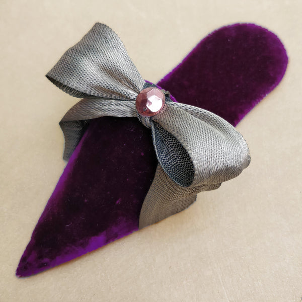 Purple velvet turkish slipper
