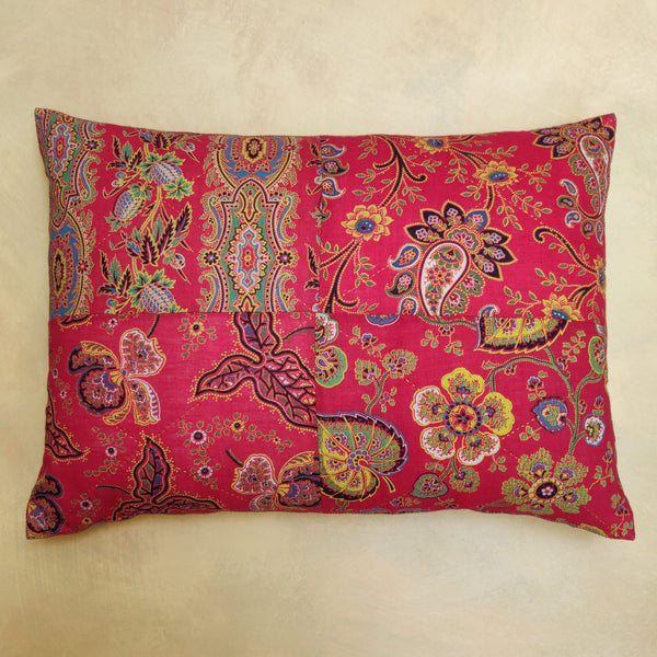 Paisley patchwork cushion