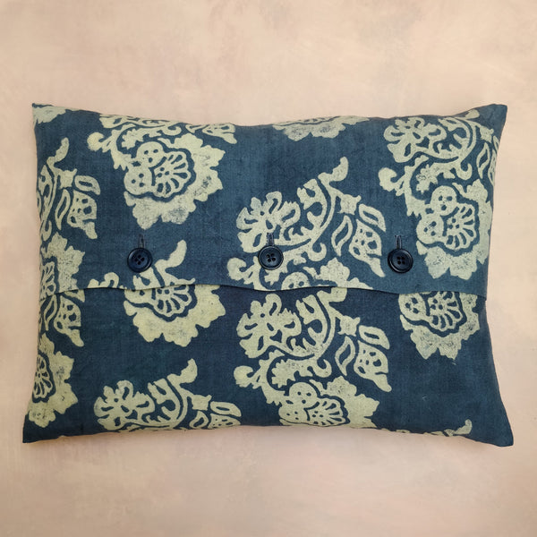 T&A hand painted discharge cushion