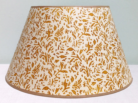 "16"" Mustard leaves lampshade"