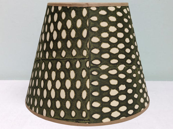 "10"" Closed Seed, Sludge Green Lampshade"