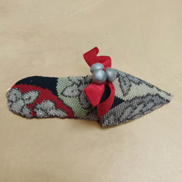 Embroidered & beaded turkish slipper