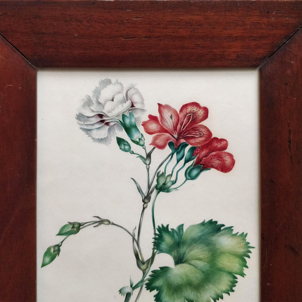Regency watercolour in rosewood frame