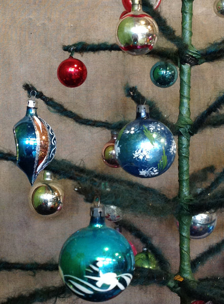 Large Green mohair Christmas tree