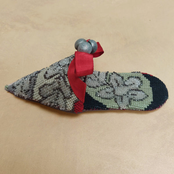 Beaded & embroidered turkish slipper