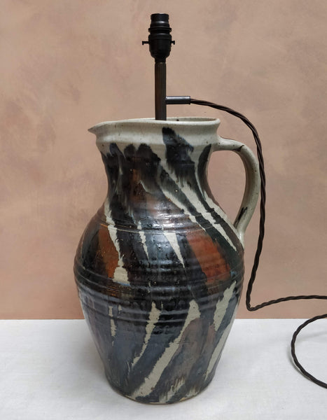 Studio pottery lamp