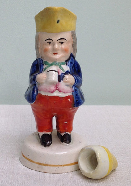 19th Century Staffordshire toby vinegar
