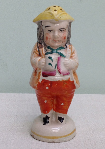 19th Century Staffordshire toby salt