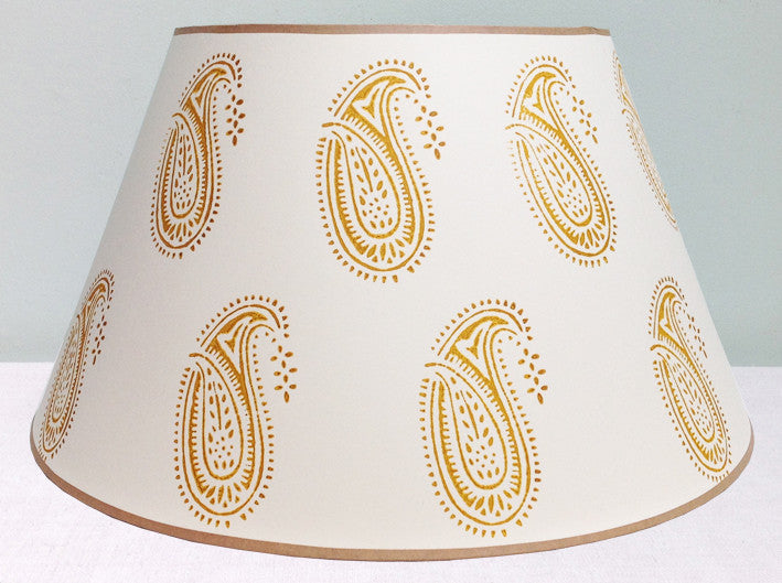 "20"" yellow paisley lampshade"