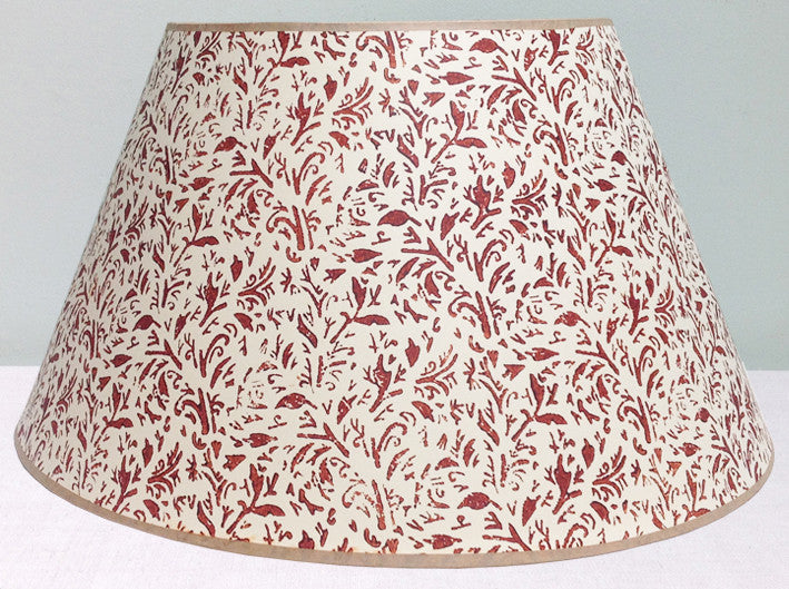 "20"" Brown Christies lampshade"