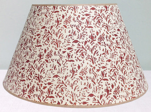 "20"" Brown leaves lampshade"