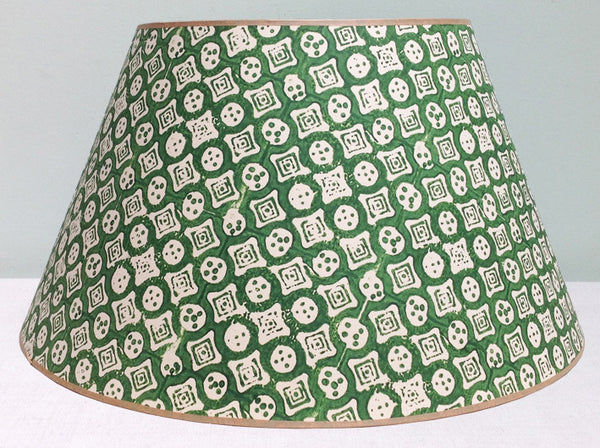 "20"" Green closed dice lampshade"