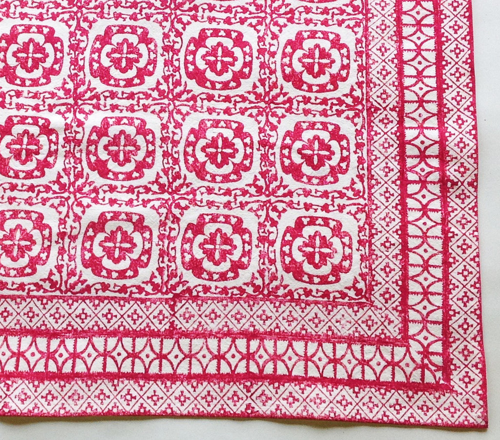 Grubby Pink Tile tablecloth