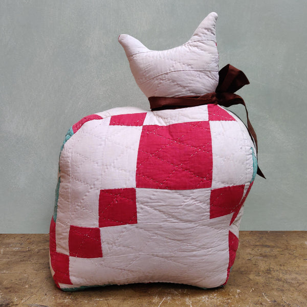 Patchwork cat doorstop