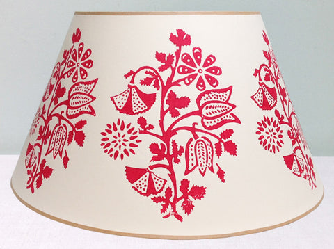 "22"" Red placement lampshade"