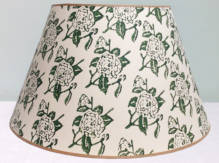 "23"" Green Camellia lampshade"