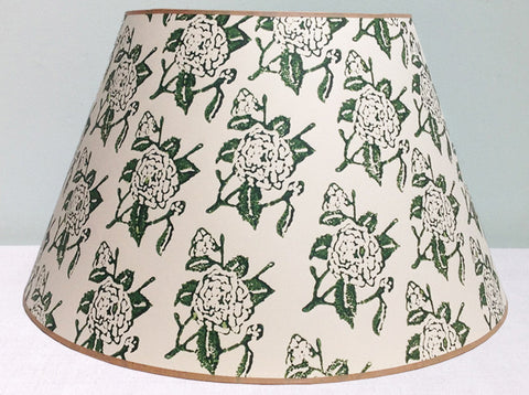 "23"" Green rose lampshade"