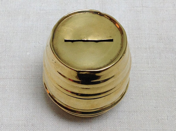 Antique brass money box