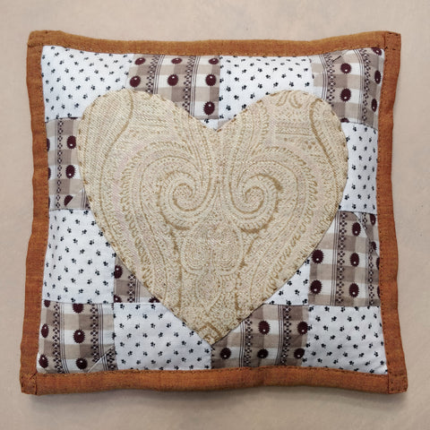 Lavender heart pillow