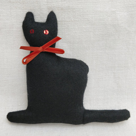 Black wool lavender cat
