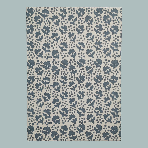 Grey French flower notebook