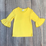 *Yellow* 3/4 Sleeve Layering Tee
