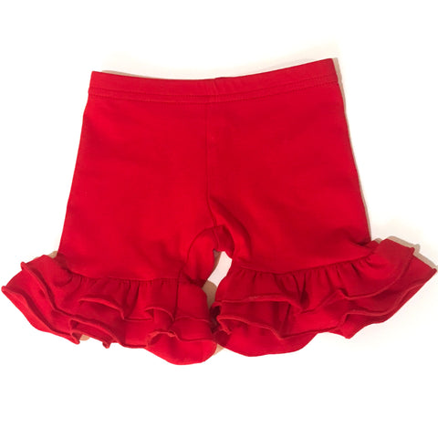 Red Ruffled Shorties