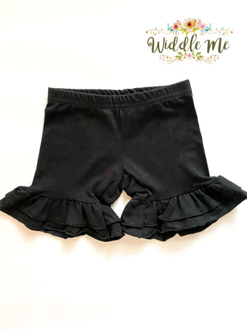 Black Ruffled Shorties