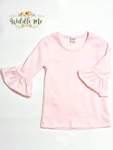 *Light Pink* 3/4 Sleeve Layering Tee
