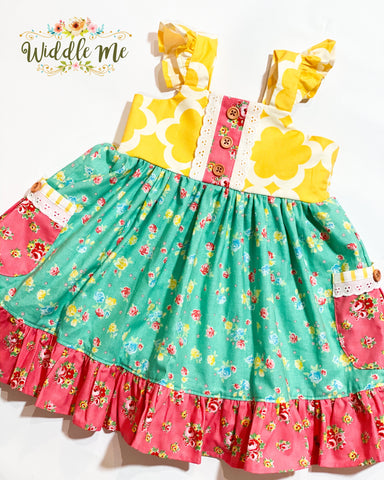 Bright Blooms Dress & Hairpieces