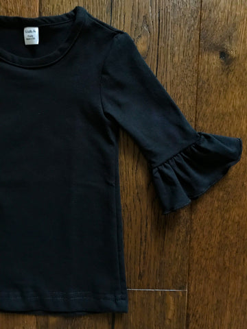 *Black* 3/4 Sleeve Layering Tee