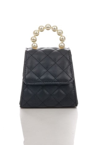 Quilted Pearl Handle Box Bag | Anarchy Street