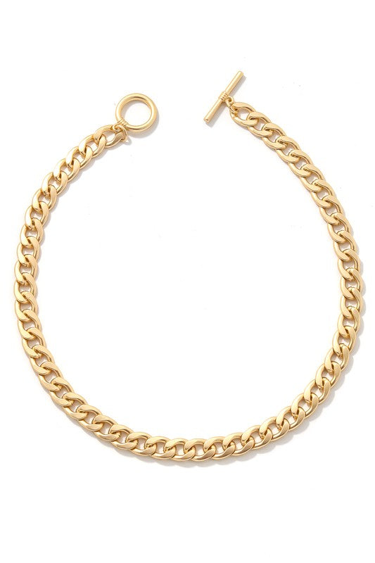 Gold Chain Toggle Necklace