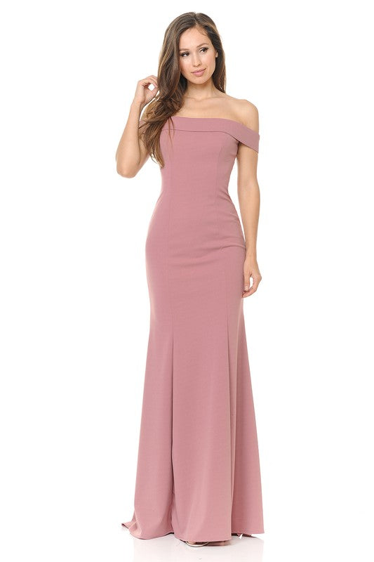 Mira Off Shoulder Gown - More colors