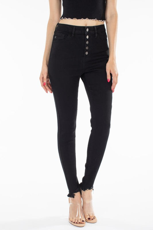 Stella Ultra High Waist Skinny Jean in Black | Swank Boutique
