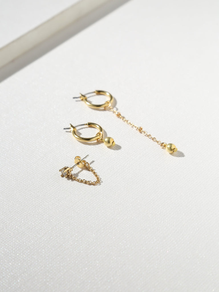 Vanessa Mooney The Kody 24k Gold Plated Earring Set | Vanessa Mooney