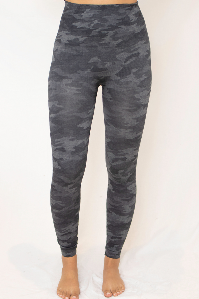 Look At Me Legging - Heather Grey Camo
