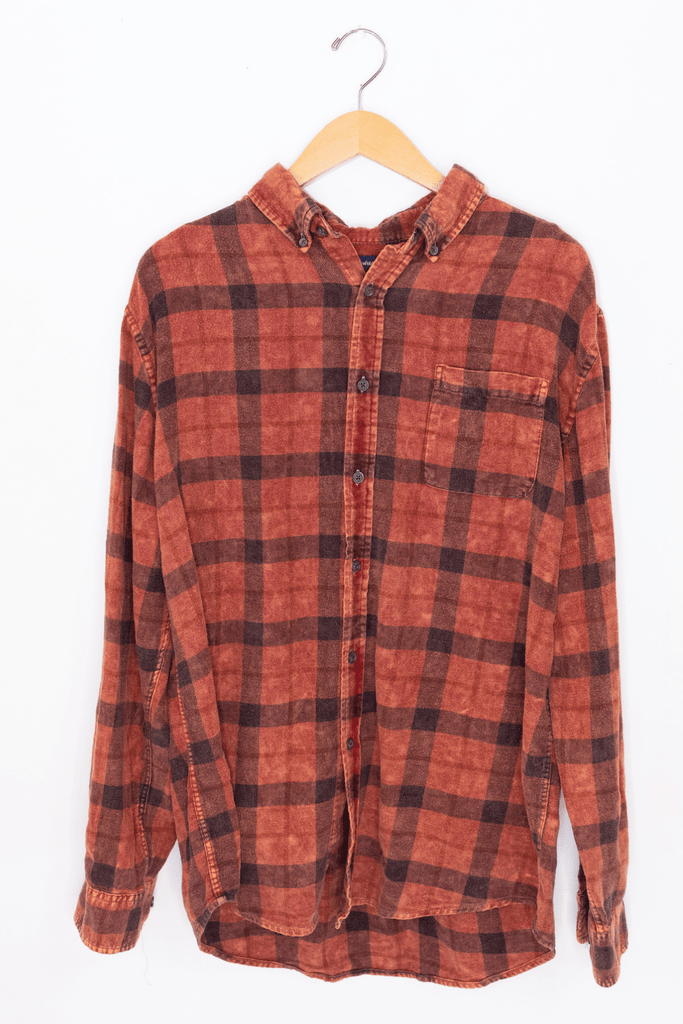 Acid Washed Flannel - Red